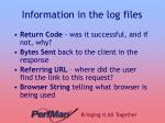 information in the log files1