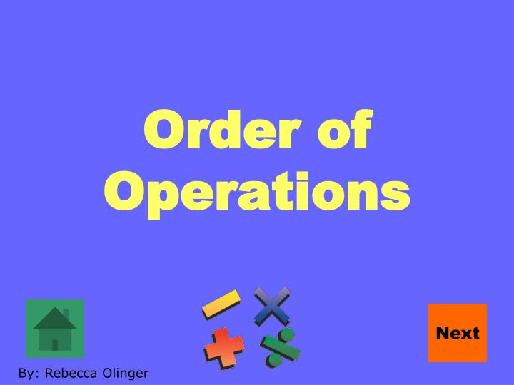 order of operations n.