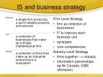 is and business strategy