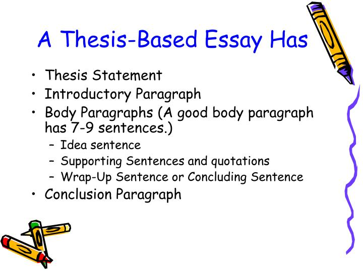 does the thesis have to be the first sentence For a short paper (1-2 pages), the thesis statement is often the first sentence a complex thesis statement for a long paper may be part of a thesis paragraph but it's hard to go wrong if you put your thesis first.