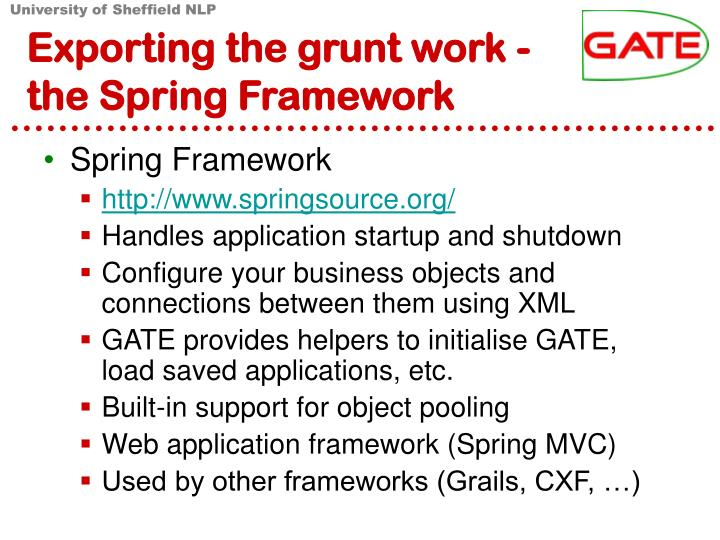 Exporting the grunt work -