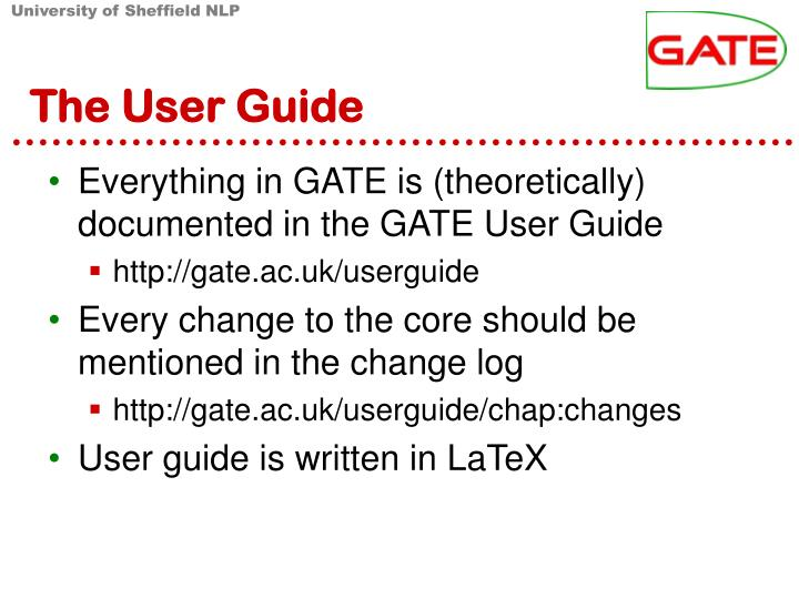 The User Guide