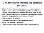 1 as duvidas do universo s o desfeitas em cristo