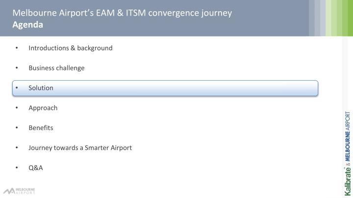 Melbourne Airport's EAM & ITSM convergence journey