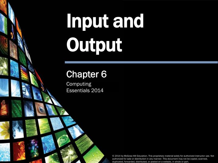 chapter 6 computer input and output
