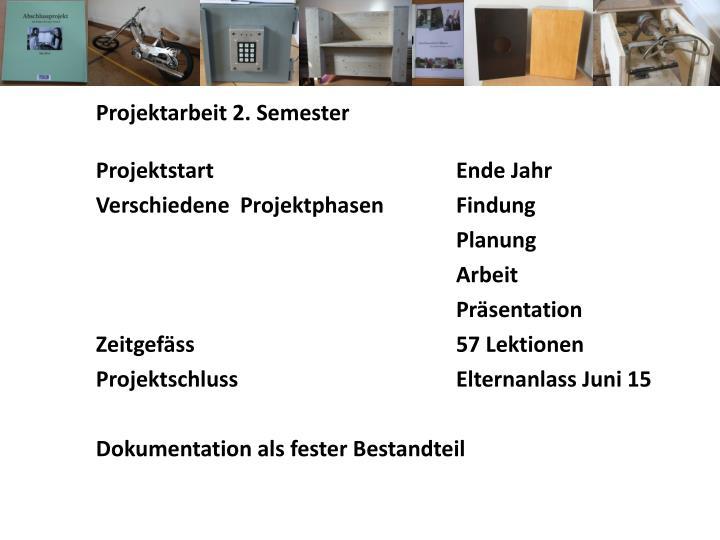 Projektarbeit 2. Semester