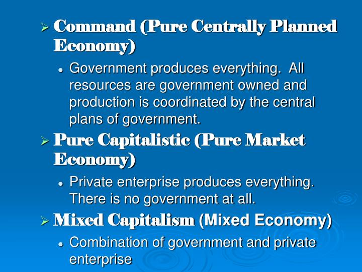 centrally planned government
