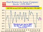 total returns for large company stocks 1970 2007