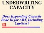 underwriting capacity does expanding capacity bode ill for art including captives