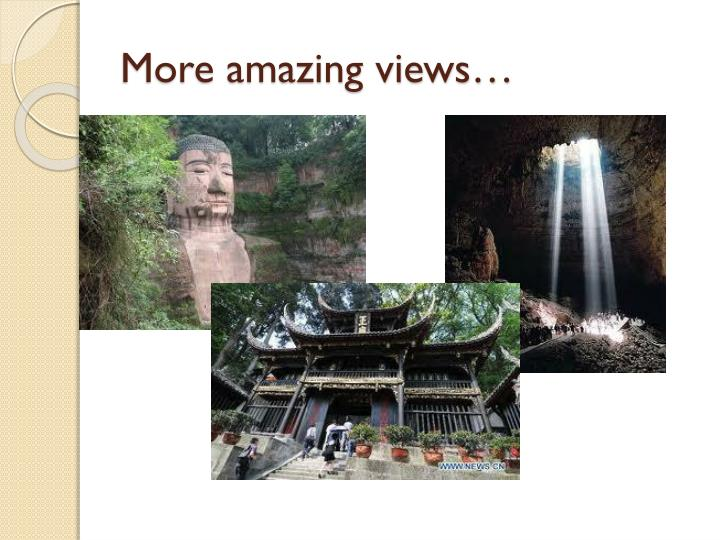 More amazing views…