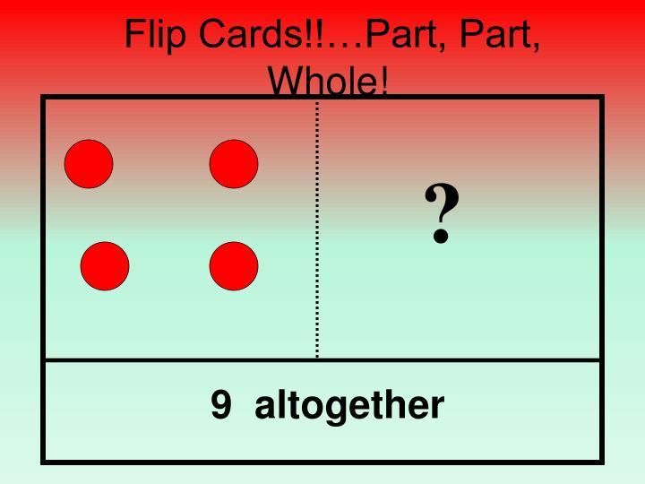 Flip Cards!!…Part, Part, Whole!