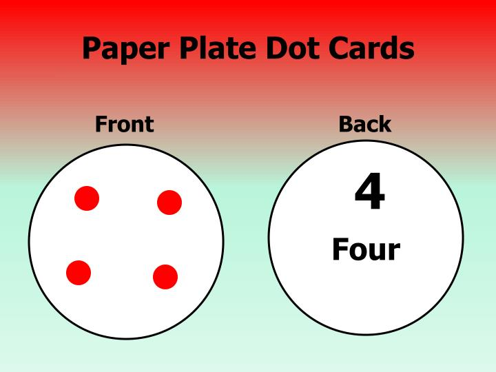 Paper Plate Dot Cards