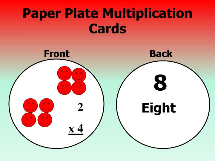 Paper Plate Multiplication Cards