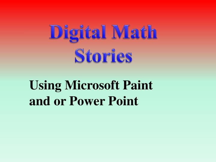 Digital Math Stories