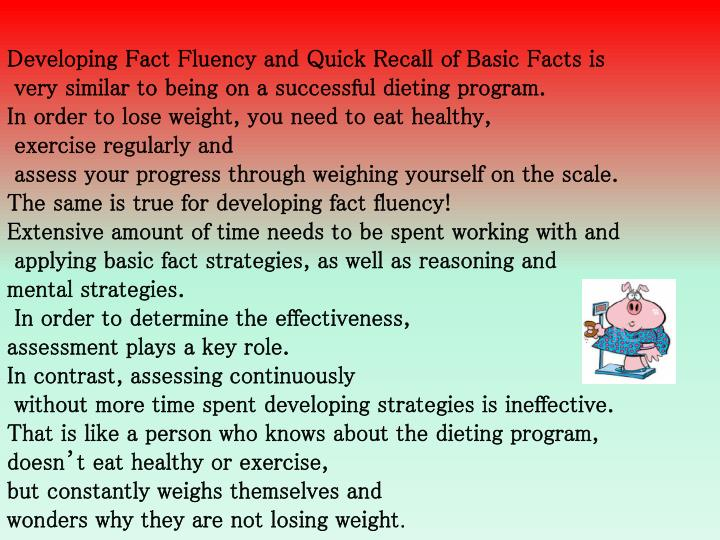 Developing Fact Fluency and Quick Recall of Basic Facts