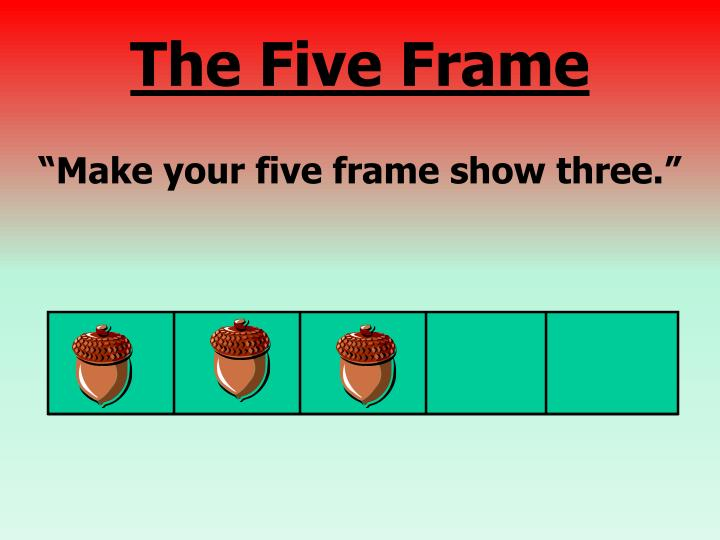 """""""Make your five frame show three."""""""
