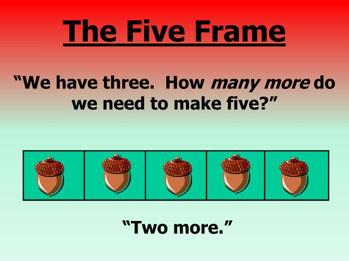 """""""We have three.  How"""