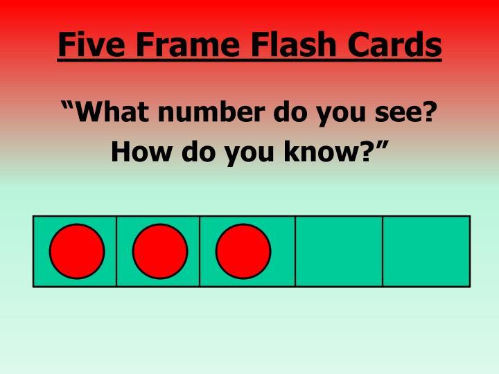 Five Frame Flash Cards