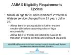 amias eligibility requirements update