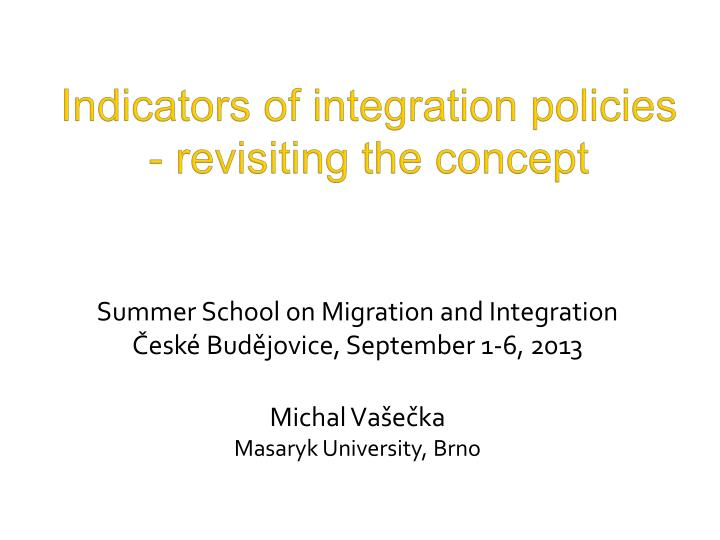 indicators of integration policies revisiting the concept n.