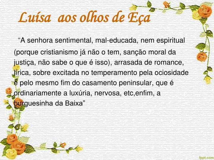 Luísa  aos olhos de Eça
