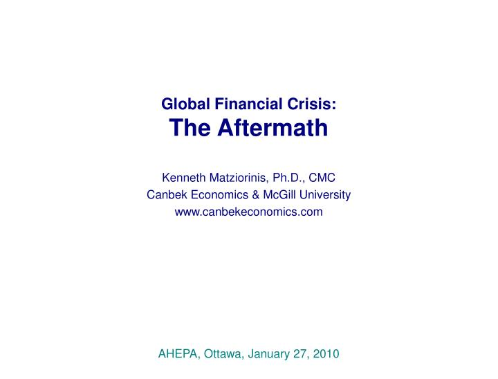 global financial crisis the aftermath n.