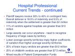 hospital professional current trends continued