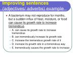 improving sentences adjectives adverbs example