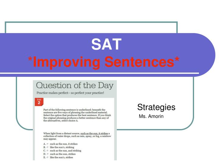 sat improving sentences