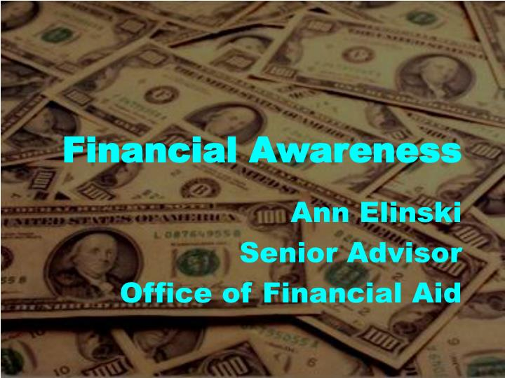 financial awareness n.