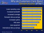 why do customers care about remote access vpns