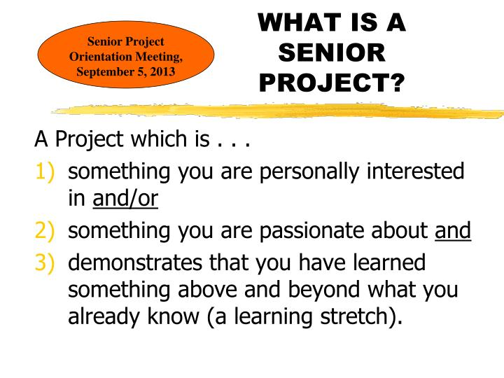 what is a senior project n.