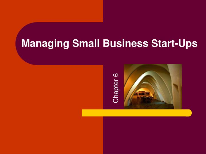 managing small business start ups n.