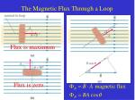 the magnetic flux through a loop
