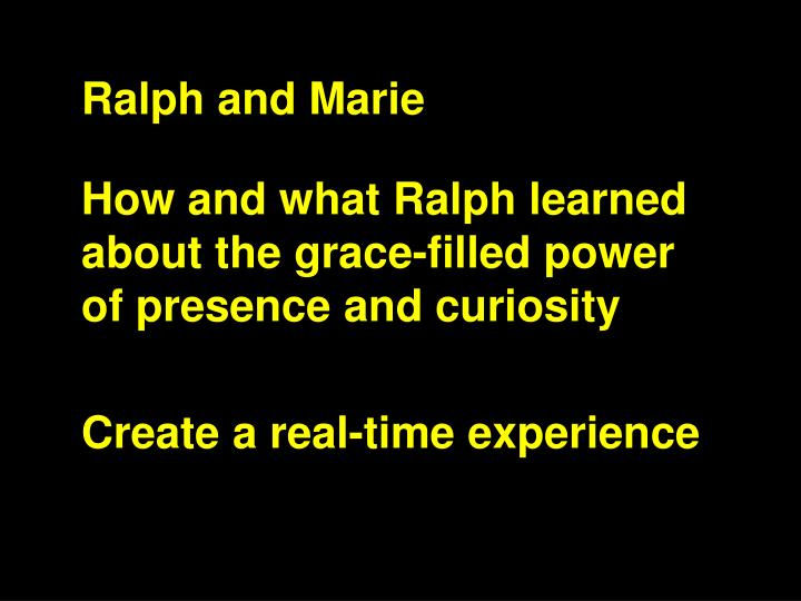 Ralph and Marie
