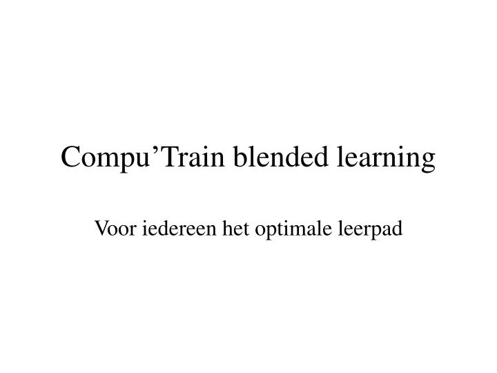 compu train blended learning