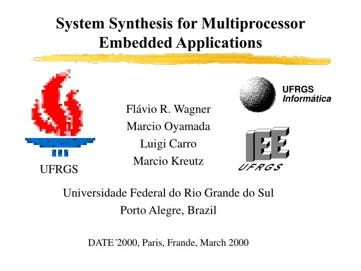 system synthesis for multiprocessor embedded applications n.