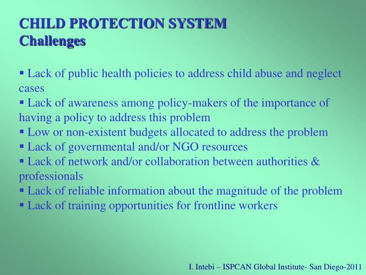 CHILD PROTECTION SYSTEM