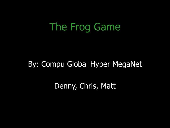 the frog game n.