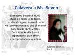calavera a ms seven