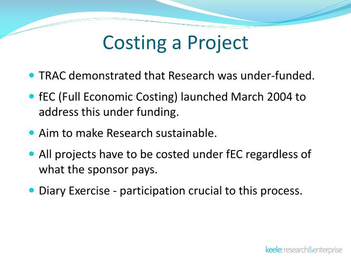 Costing a Project