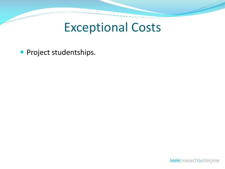 Exceptional Costs