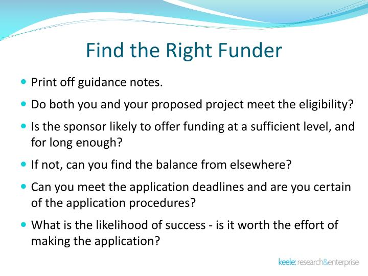 Find the Right Funder
