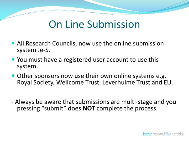 On Line Submission