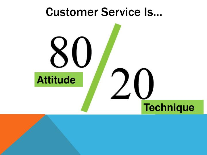 Customer Service Is…