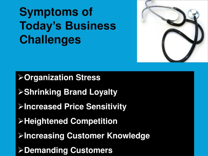Symptoms of Today's Business Challenges