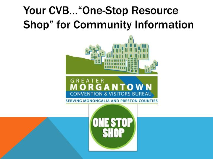 "Your CVB…""One-Stop Resource Shop"" for Community Information"