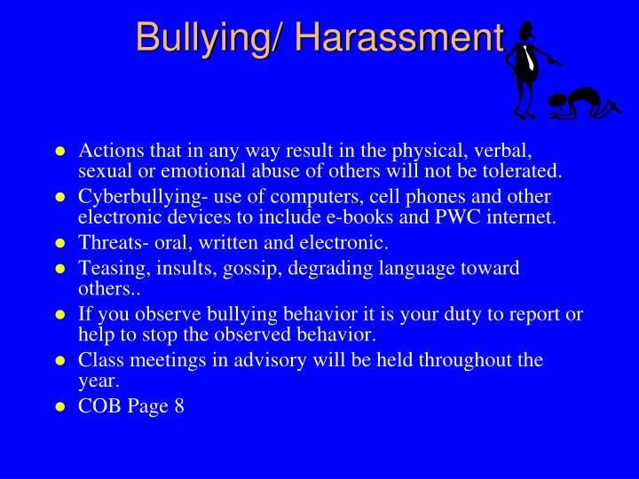 Bullying/ Harassment