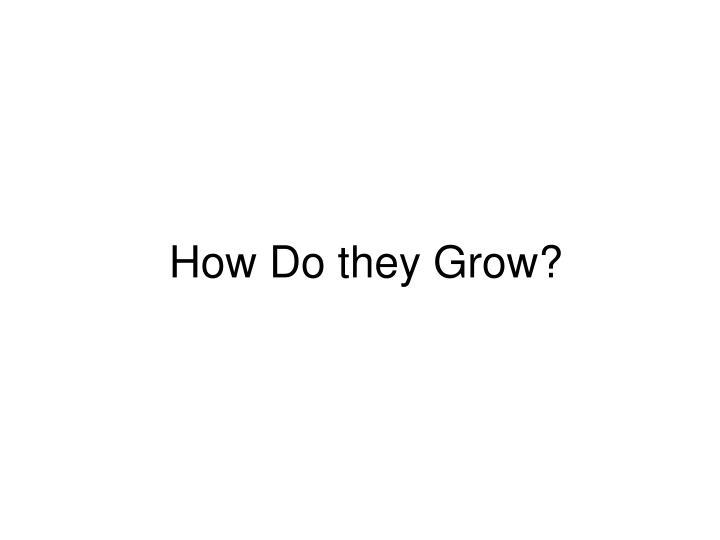 How Do they Grow?