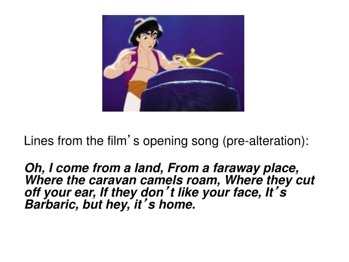Lines from the film